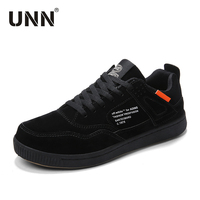 UNN Spring 2019 Lifestyle Fashion Shoes Men Casual Sneakers For Man Running Shoes Suede Leather Comfortable Flat Footwear