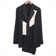 M-6XL! Большой ярдов мужская одежда новый дизайн принимает новый стиль мужской костюм шить и модный раскладной yo