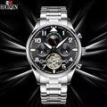 Мужские наручные часы HAIQIN  брендовые Роскошные автоматические механические часы с турбийоном  водонепроницаемые часы Montre Homme  новинка 2019