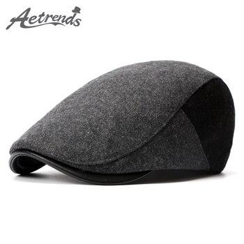 [AETRENDS] 2016 New Winter Berets England Style Beret Hats for Men or Women Visor Cap Z-3976
