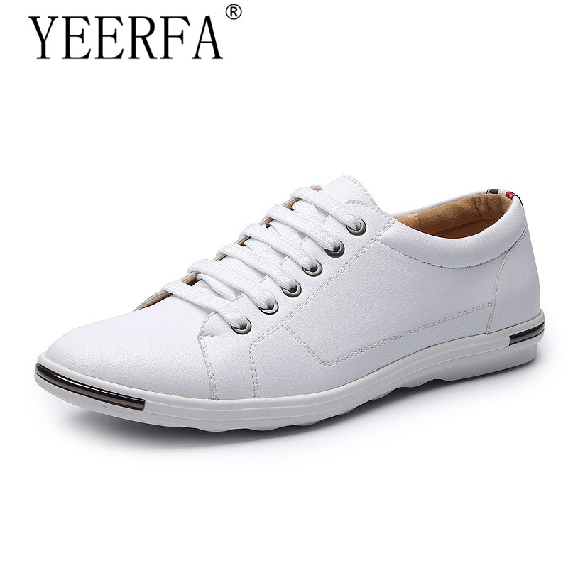 YIERFA Fashion Men Shoes Summer Autumn Split Leather Lightweight brand Breathable Casual shoes Flats Zapatos plus size 38-48