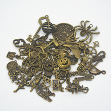 100g Wholesale Mixed Style Mixed Color Vintage Alloy  Charms Pendant Fit Bracelets Necklace DIY Jewelry Making  Accessories недорого