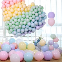 100pcs 12 Latex Macaroon Balloon Kids Birthday Wedding Balloons Party Decoration Sweet Colorful Air Ball Arch baloons