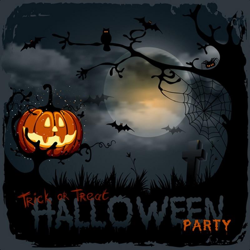 Halloween backdrop photo backdrops pumpkin lantern full moon halloween party photography backgrounds cloth fondo para fotos in Background from Consumer Electronics