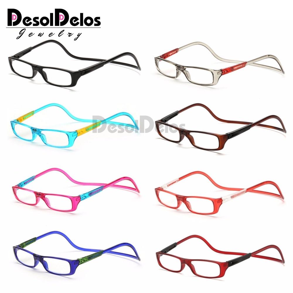 Upgraded Unisex Magnet Reading Glasses Men Women Colorful Adjustable Hanging Neck Magnetic Front presbyopic glasses
