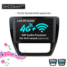 SINOSMART 2.5D IPS Screen 1G/2G /4G Optional Car GPS Navigation for Volkswagen Sagitar 2012-2017 Support OBD 2 Bluetooth(China)