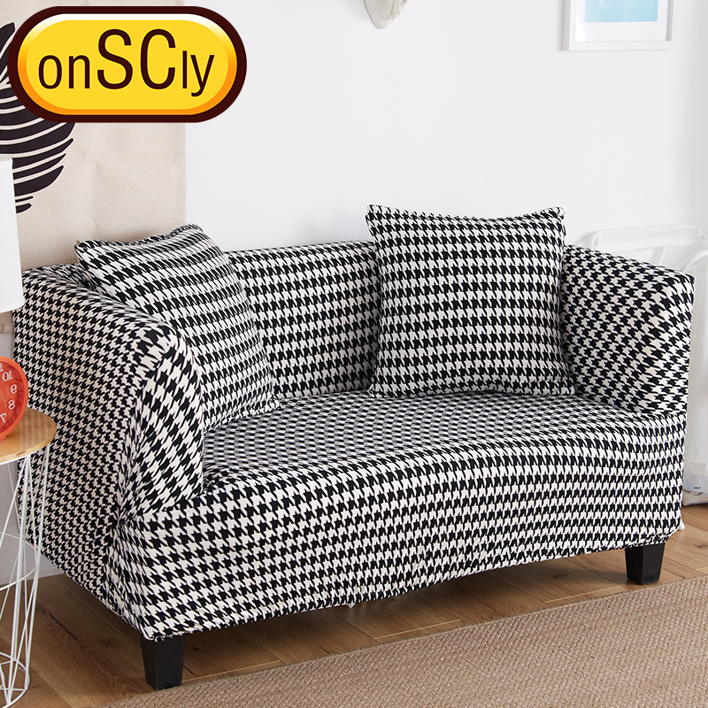 US $16.32 51% OFF|Houndstooth Protector Sofa Cover Sofa Slipcover Furniture  Couch Cover For Sofa Covers For Living Room Corner Sofa Cover Elastic-in ...