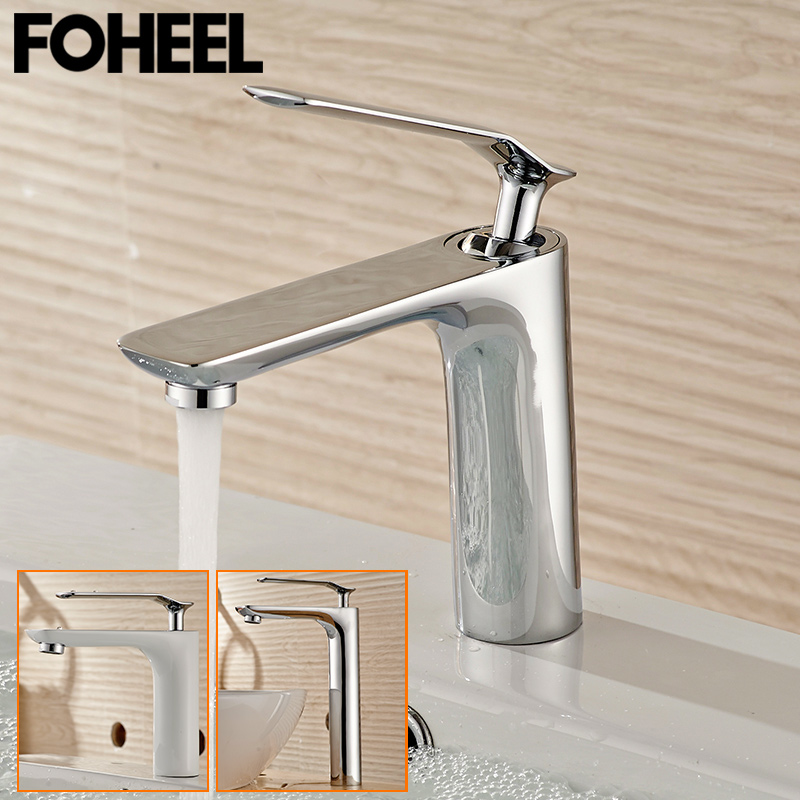 FOHEEL bathroom faucet basin mixer tap cold-hot water taps chrome polished deck mounted washbasin tap faucetsFOHEEL bathroom faucet basin mixer tap cold-hot water taps chrome polished deck mounted washbasin tap faucets