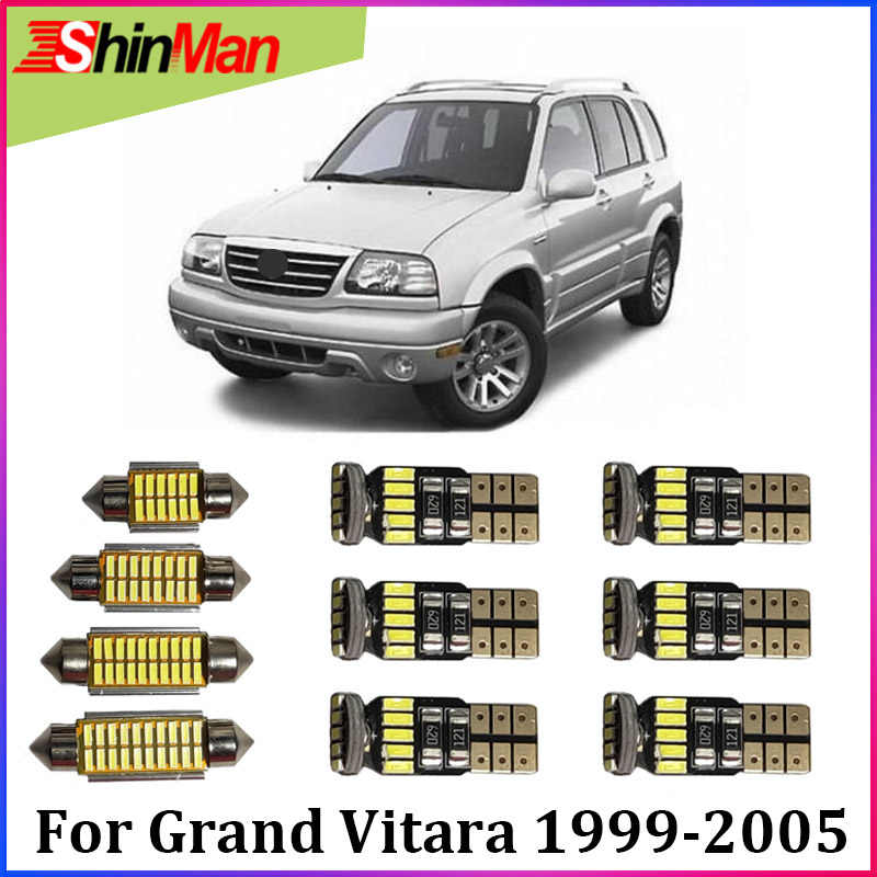 ShinMan 13X Error Free LED CAR lights Interior Light LED Reading Lights For Suzuki Grand Vitara LED Interior Package 1999-2005