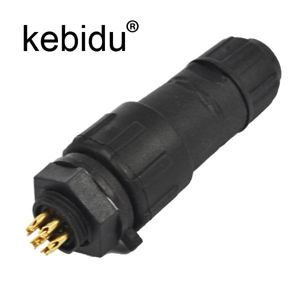 Kebidu M14 7 Pin 7 Pole Industrial Ip68 Waterproof Connector Cable 7pin Panel Mount Wire Connector Adapter Plug For Led Lamp Computer & Office