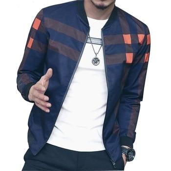 Loldeal Men Bomber Jacket Men Baseball  Jacket Men Plaid Windbreaker 2018  For Men Autumn Style Active jaqueta masculinat Male 1