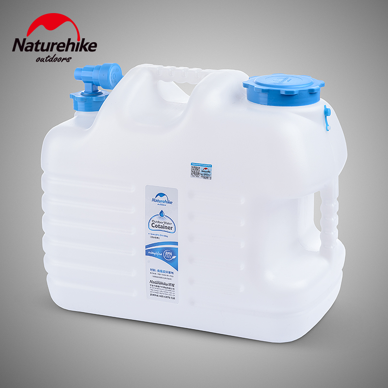 Naturehike NH14S001 T 12L 18L 24L Litre Water Storage Container Bottle Carrier Jerry Can Bucket with Tap Caravan Tent Camping
