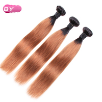 BY Brazilian Pre Colored Raw Straight Hair 1B 30 Color One Piece Remy Human Hair Bundles