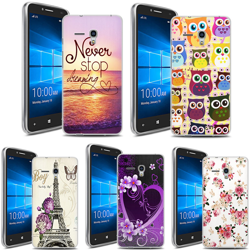 sports shoes 249c2 e7c09 Alcatel Fierce XL 5054 5054D Case Animal Flower Silicon TPU Skin Soft Back  Cover Case for Alcatel One touch Fierce XL 5054 5054D on Aliexpress.com |  ...