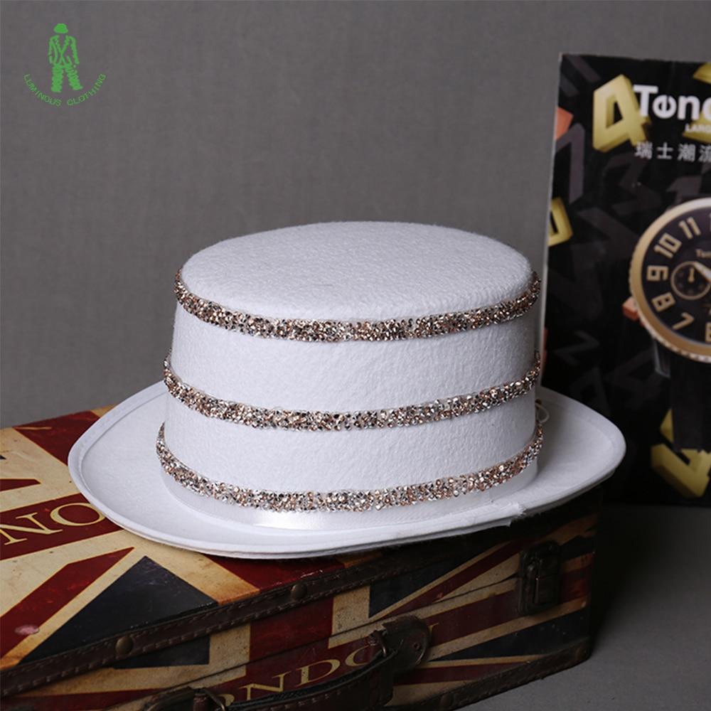 Besplatna dostava LED rasvjeta šljokice Hat Hop Jazz Kape Cap Klub - Za blagdane i zabave - Foto 3