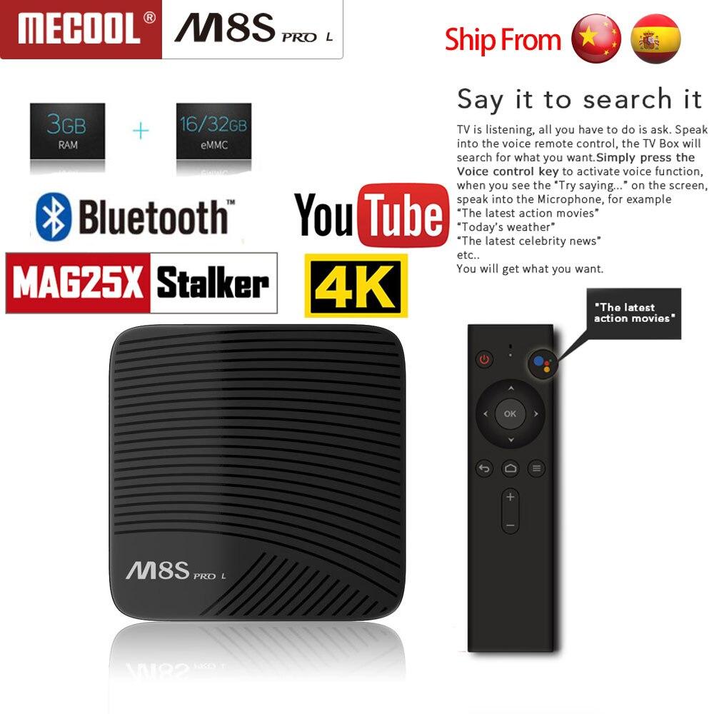 MECOOL M8S PRO L Android 7.1 tv box Amlogic S912 3 GB DDR3 16/32 GB Rom 2,4G/ 5G WiFi Bluetooth H.265 4 K smart tv box pk M8s Pro W