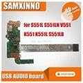 Original für For Asus S551L S551LN V551 K551 K551L S551LB USB AUDIO board S551LB S551LN IO BORD