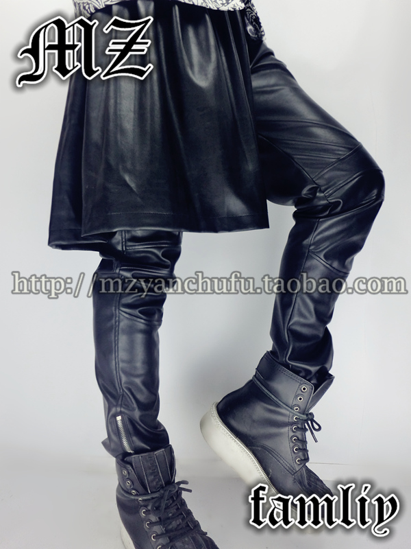 Online Buy Wholesale men leather skirt from China men leather ...
