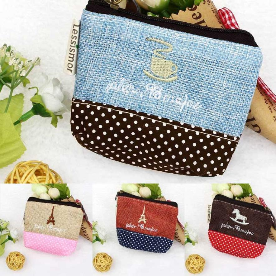 Women Handbag Top Quality 2017 New Small Canvas Purse Zip Wallet Lady Coin Case Bag Key Holder d7 Bolsa Bolso 17Apr28