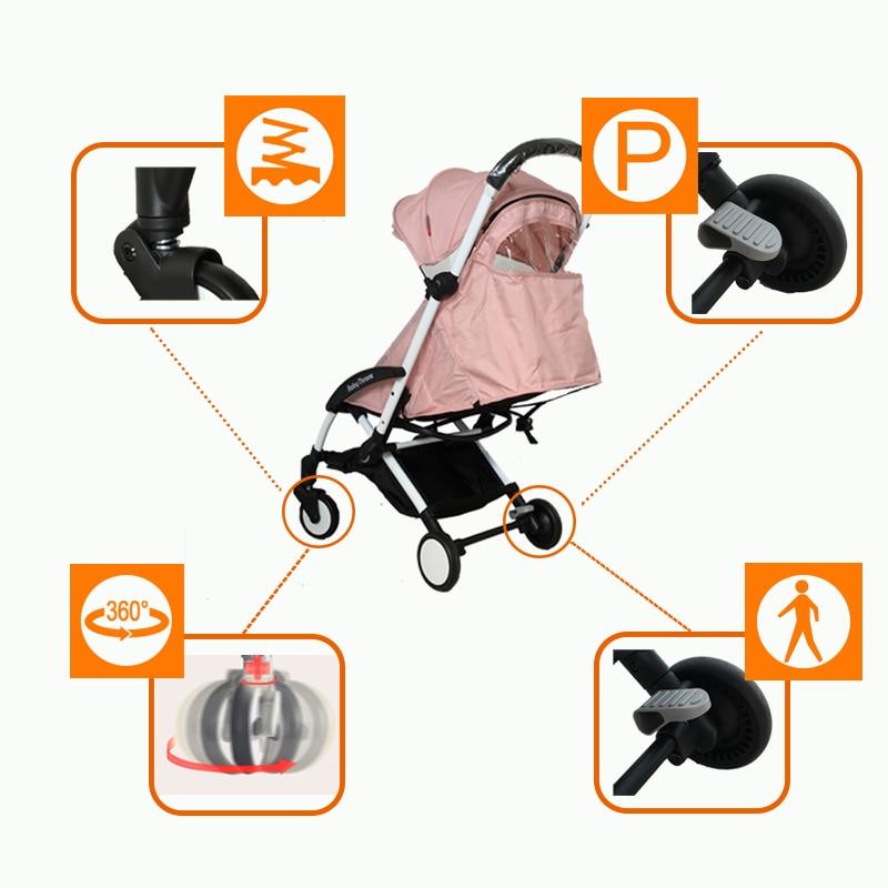 Liga de Alumínio do Bebê Reclinável Dobrar Choque Luz 2019