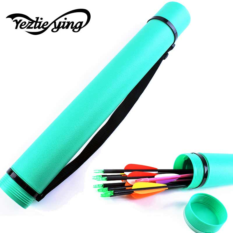 HIgh Quality Green Archery Arrow Quiver Holder 24pcs Arrows with Adjustable Length 25-40 inch 1 piece Archery Shooting ArrowTube green arrow canary vol 03