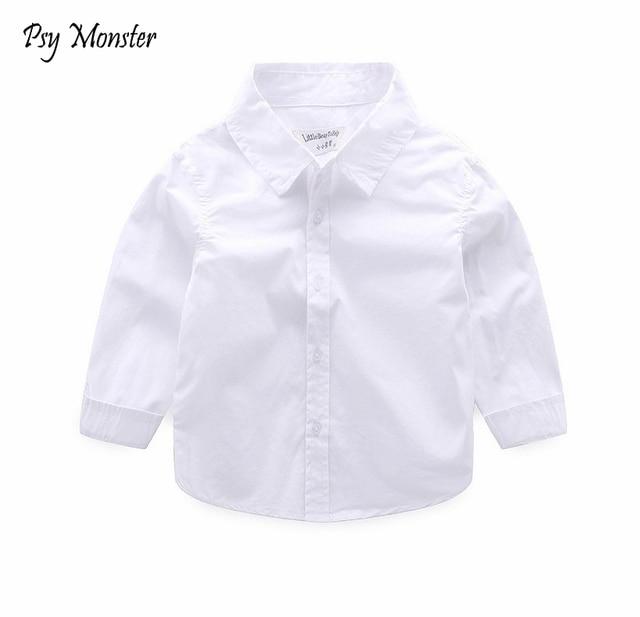 3ee88a8a White Shirts For Boys School Formal Uniform shirt boys long sleeve Kids  Shirts Cotton Children Boys