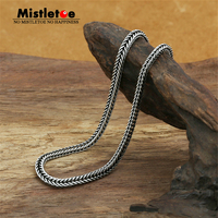 Authentic 100% 925 Sterling Silver Classic Vintage 2.8mm Fox tail Necklace Chain Jewelry For Women Or Men