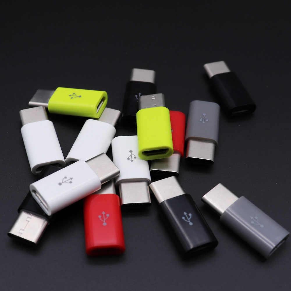 Tipe-C OTG Adapter Micro USB To TYPE C Charger Konektor untuk Samsung Galaxy S8 S9 Plus Note 8 9 Leeco Typec untuk USB-C Usbc Kabel