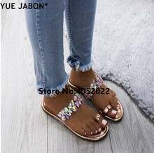 0abefad67815a3 YUE JABON Colorful Slippers Bling Brand Slipper Flat Casual Shoes Slip On Slides  Beach Flip Flops
