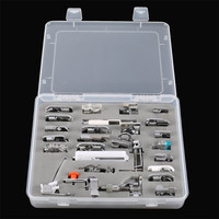 52Pcs Multifunctional Domestic Sewing Machine Presser Foot Feet Kit Set for Household Mini Electric Sewing Machine