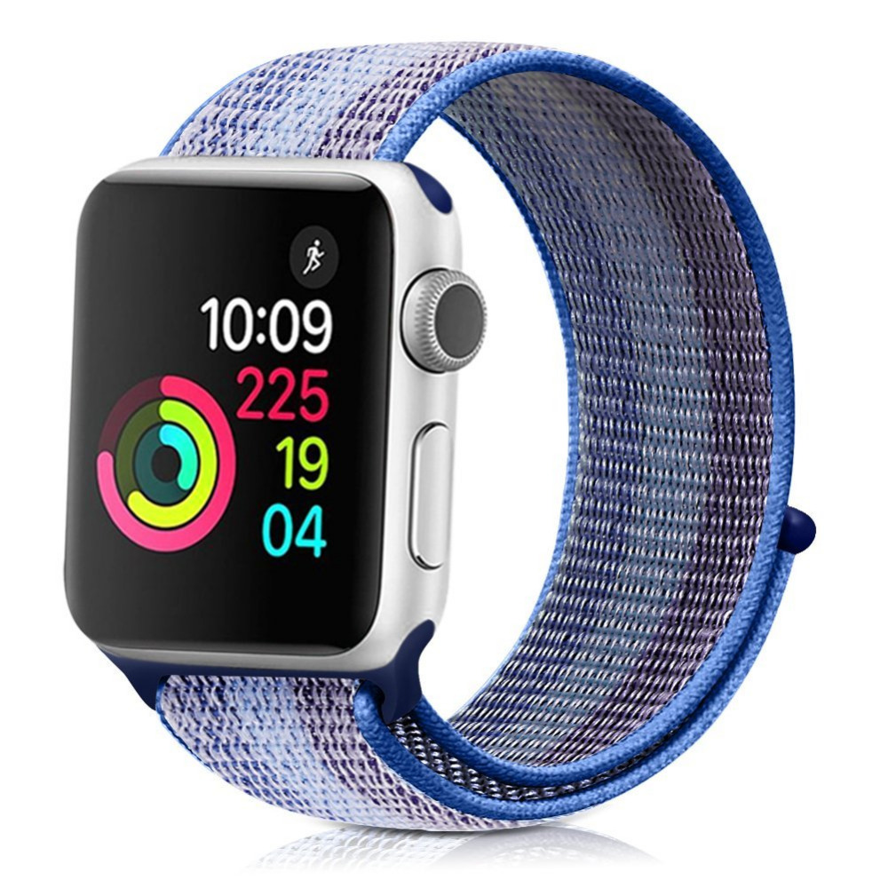 Color Striped Soft Woven Strap Nylon Loop Replacment Band