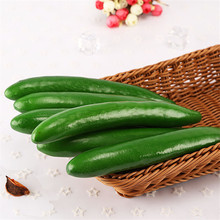 3pcs Creative Artificial Vegetables PU Cucumber Carrots Fake Decorative Cute Dining Table Decor Simulation
