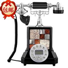 A square antique European telephone telephone landline phone phone high-grade household ornaments european antique telephone set classical rotary dial telephone resin classical telephone