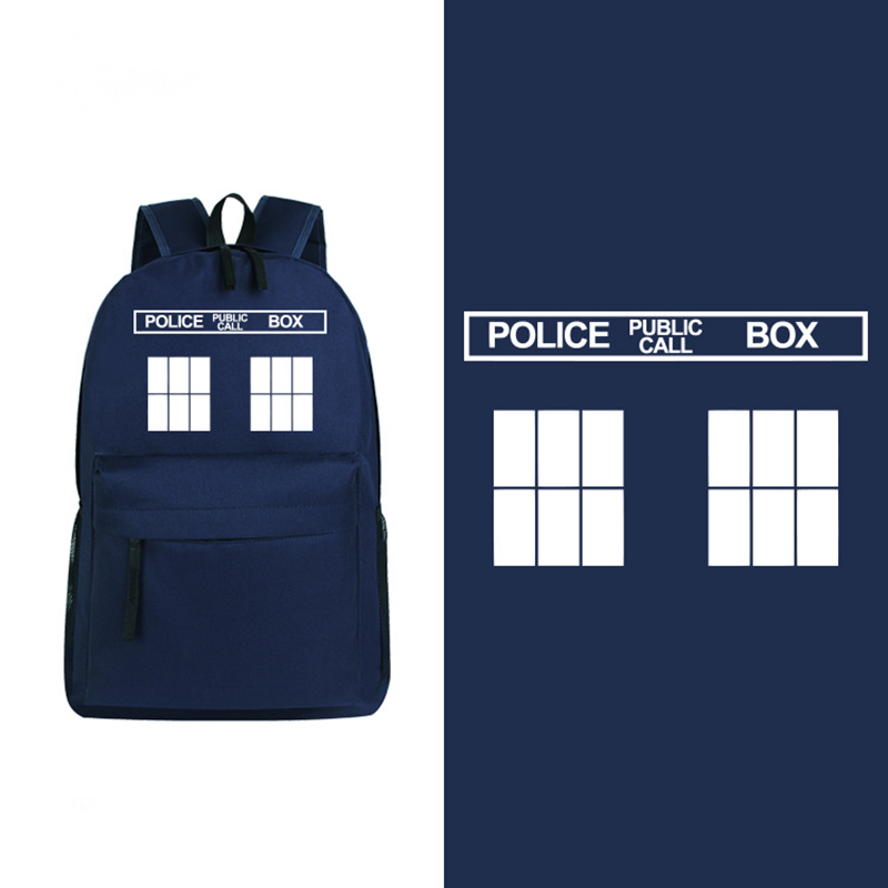 2017 New Candy Color Doctor Who Tardis Canvas Printing Backpack Travel Men's Backpacks School Bags for Teenagers Rucksack front alloy arm set for baja parts 1 set 85113 baja front alloy for 1 5 rc car hpi rovan km baja upgrade parts