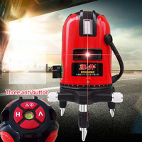 5 Lines 6 Points Laser Level Powerful Red Laser Beam Line Self leveling 360 degree Slash Functional Rotary Nivel Laser