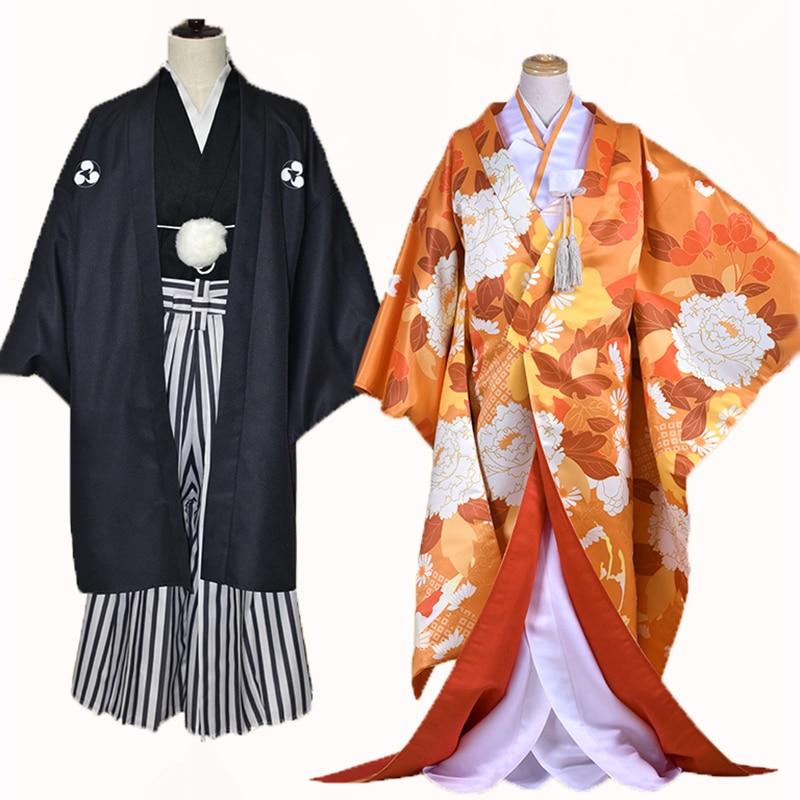 Anime Kamisama Kiss figure Nanami & Tomoe Japanese Wedding Kimono Dress Halloween cosplay costume
