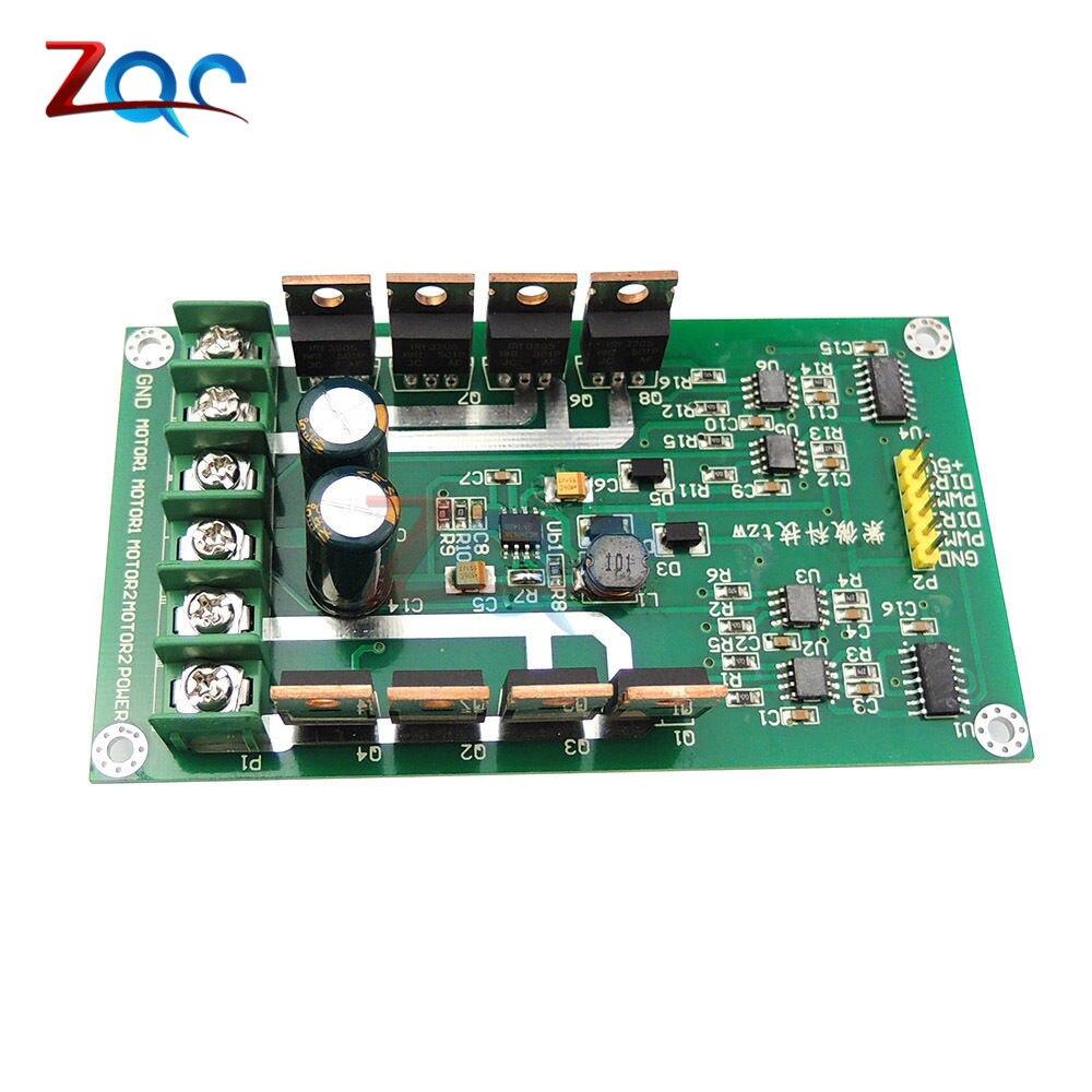 10A Dual Channel Motor Driver Board Module High Power H Bridge DC 3-36V Strong Braking Function Drive Plate