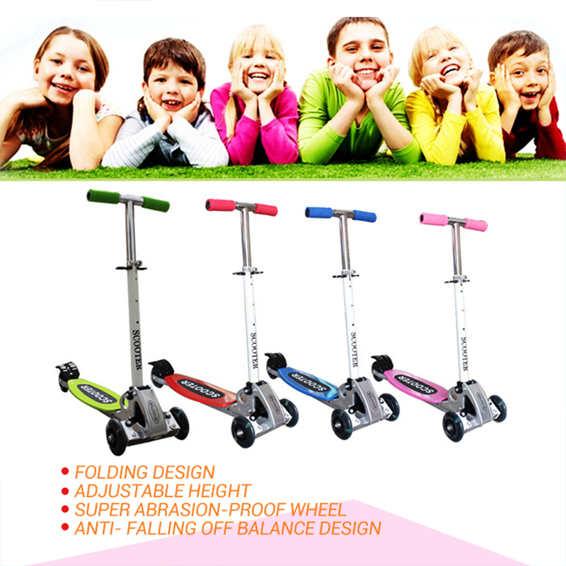 2017 new arrival Three wheels Balance scooter Folding size 2 - 12 years old  Children Safety scooter Adjustable Height children scooter 3 wheel folding flash swing car lifting 2 15 years old baby stroller ride bike vehicle children toys gifts