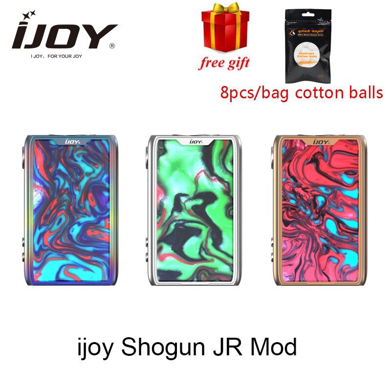 Cadeau gratuit Ijoy SHOGUN JR 126W Vape TC Mod pour vaporisateur de réservoir SUBOHM E cigarette mod avec jeu de puces UNIV vs Shogun UNIV Mod