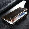 Caso de lujo Para Samsung Galaxy S4/5/6/7/S6 edge plus/s7 edge/nota 5 4/A3 2016/A7 Imán de la Carpeta Original de la Marca Genuina de Cuero