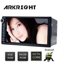 ARKRIGHT 7 Android 8,1 PX5 4 GB + 64 GB универсальный Автомагнитола аудио стерео HD gps навигации головное устройство DVR OBD мультимедийный плеер DSP