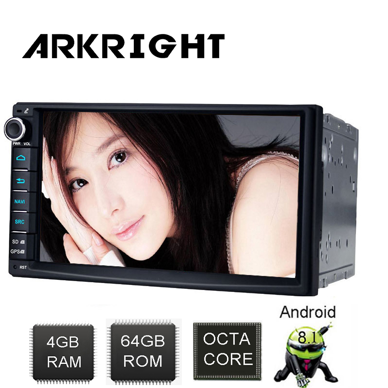 "ARKRIGHT 7"" Android 8.1 PX5 4GB+64GB Universal Car Radio Audio Stereo HD GPS Navigation Head Unit DVR OBD Multimedia Player DSP"