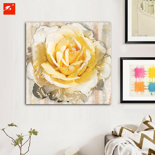 Home Decor Beautiful Daisy Rose Print Poster Wall Art Picture Canvas Oil  Painting On Prints For Living Room Bedroom Warm Cozy In Painting U0026  Calligraphy From ...
