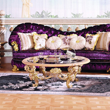 hot sale European style woodcarving round coffee table, living room furniture