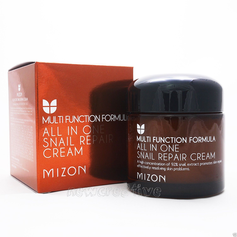 MIZON All In One Snail Repair Cream 75g Face Cream Skin Care Moisturizing Anti aging Anti wrinkle Facial Cream Korean Cosmetics snail extract cream skin care cosmetics laikou 5pcs set whitening moisturizing anti aging anti wrinkle moisturizing face care