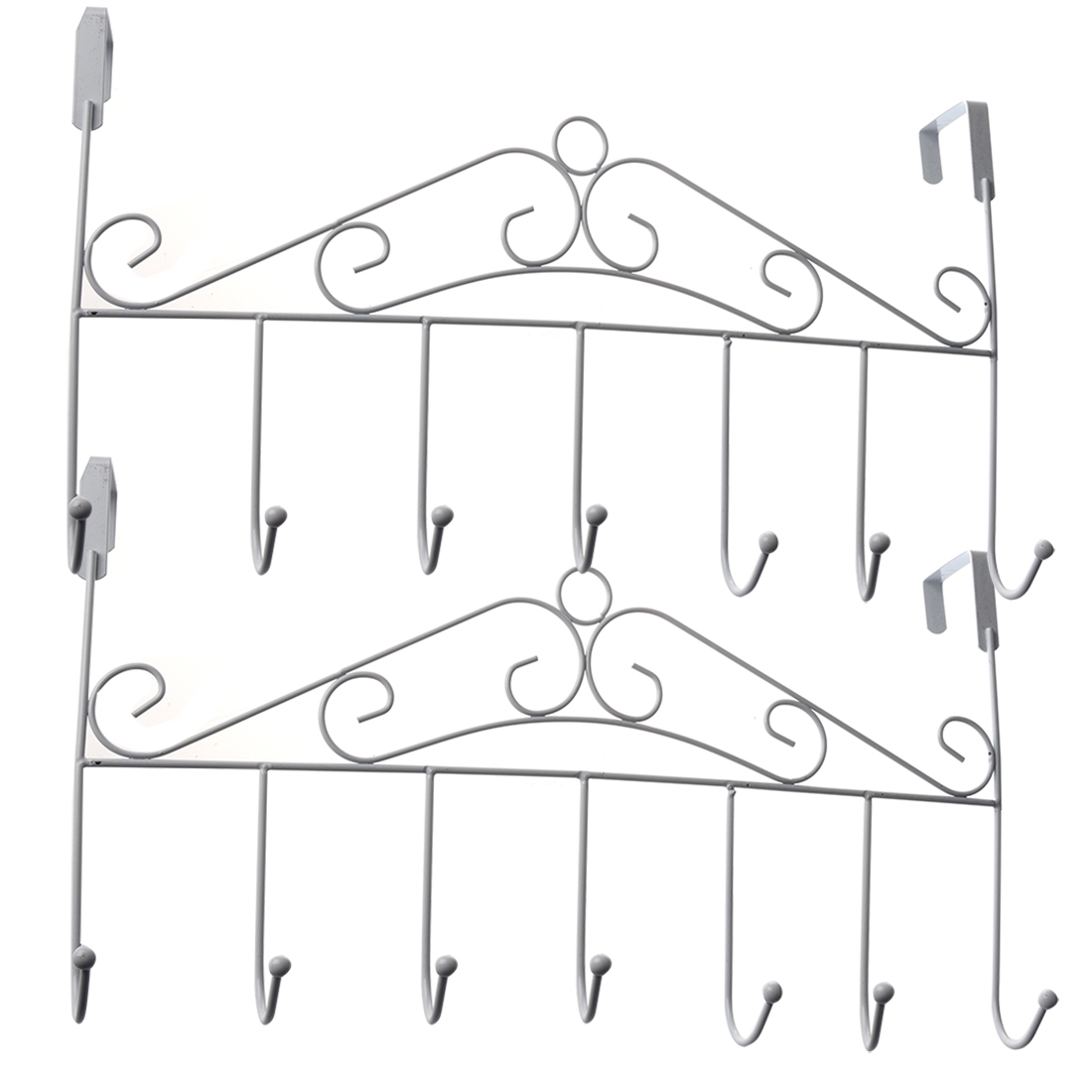 5 Hanger White Towel Hat Coat Clothes Wall Hook Over Door Bathroom In Hooks Amp Rails From Home