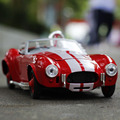 Brand New Classic 1/32 Scale Vintage Ford Shelby Cobra  Cool Diecast Metal Pull Back Car Model Toy For Gift/Kids