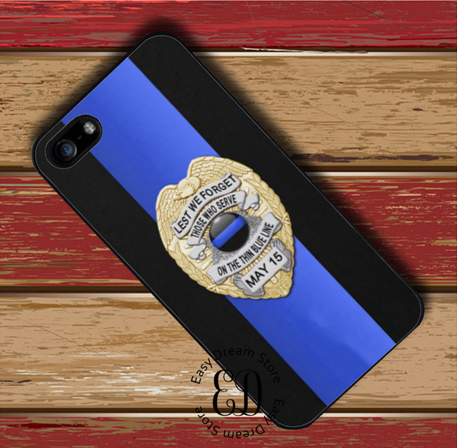 the best attitude 4eea8 a89ef US $4.99 |Police Badge Thin Blue Line case for iphone X XR XS Max 4s 5s SE  6s 7 8 plus Samsung j7 s10 s6 s7 s8 s9 edge plus note 5 8 9-in Half-wrapped  ...