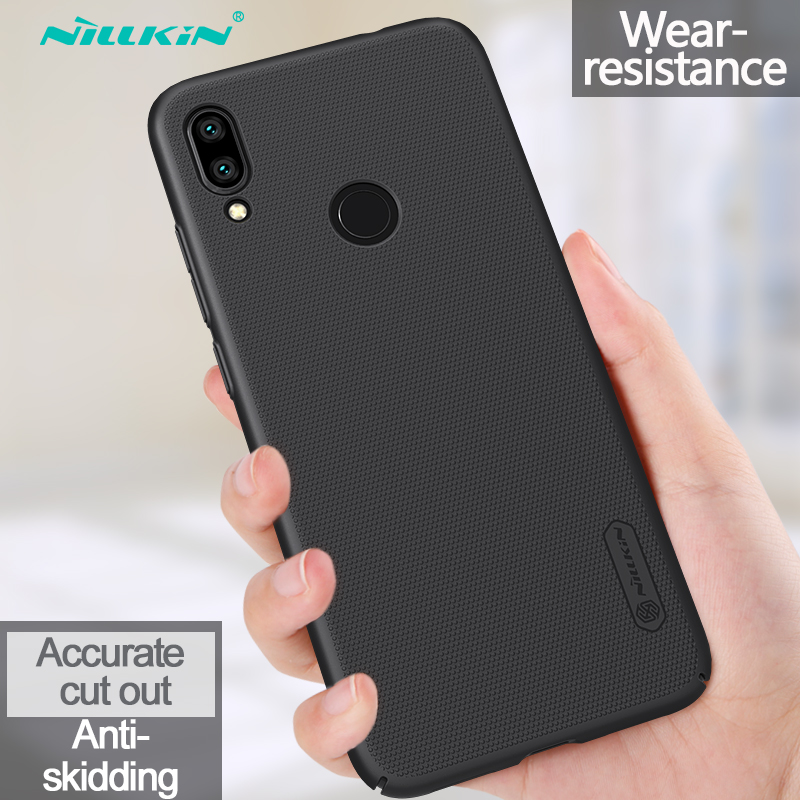 Redmi Note 7 Case Casing Nillkin Frosted PC Hard Back Cover Case For Xiaomi Redmi Note 7 Pro 7S 8 8Pro 6.3""