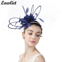 Women Fascinator Hats Fancy Ladies Headband for Kentucky Derby Race Church Wedding Party Women Headwear with Floral Feather A362